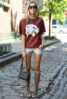 Street Style Shorts Jeans Gladiadora
