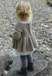 Listing for CROCHET PATTERN ONLY of The Rufflyn Cardigan. This sweater is handcrafted and designed with comfort and warmth in mind…Perfect accessory for all sea Crochet Toddler, Crochet Girls, Crochet Baby Clothes, Crochet For Kids, Cardigan Bebe, Cardigan Pattern, Crochet Cardigan, Knit Crochet, Crochet Jacket