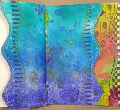 Michelle Hearnden Art Journal - Dylusions Love pg 4