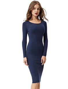 72b2b884157c2 GLOSTORY Women s Long Sleeve Slim Fit Winter Bodycon Sweater Dress