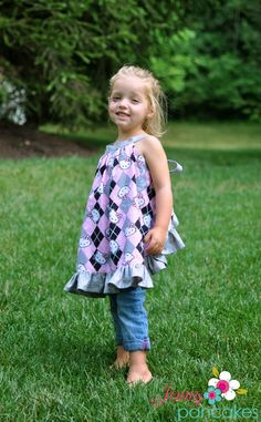 Sewing patterns for girls' dresses and skirts.
