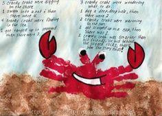 Handprint Crab with Song - Fun Handprint Art