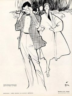 Rene Grau Fashion Illustration ~ Miss at la Playa