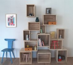 diy shelves awesome but one thing that would make this better is making the shelves moveable