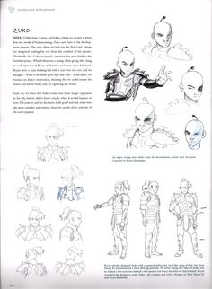 Zuko Concept Art from Avatar