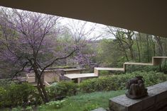 Frank Lloyd Wright's Fallingwater--a home built on and over and around water. Is a National Historic Landmark and can be toured. Located in the Laurel Highlands area of southwest PA.