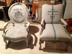 How to paint upholstered chairs with Annie Sloan Chalk Paint