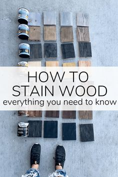 A guide to everything you need to know about how to stain wood, including examples of wood stain and sealers on different types of wood. Cheap Furniture Makeover, Diy Furniture Renovation, Furniture Projects, Wood Projects, Welding Projects, Diy Wood Stain, Staining Wood Furniture, Painting Furniture, Stain Techniques