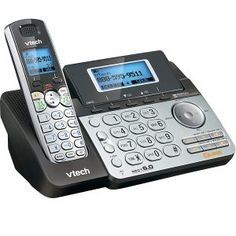 Shop VTech DECT Expandable Cordless Phone with Digital Answering System and Dial-In Base 1 Handset Black at Best Buy. Find low everyday prices and buy online for delivery or in-store pick-up. Top 10 Phones, Cordless Telephone, Wireless Service, Phone Companies, Caller Id, Best Phone, Office Phone, Landline Phone, Gift