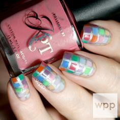 Checkered Nail Art with the NEW Polished by KPT Basics Series Thermals