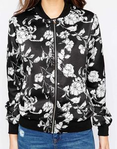 Image 3 of New Look Floral Print Bomber Jacket