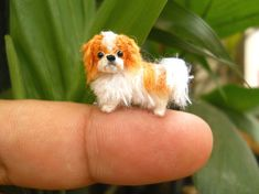 Hey, I found this really awesome Etsy listing at https://www.etsy.com/listing/204529465/miniature-japanese-chin-tiny-crochet