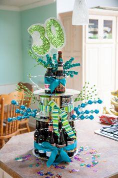 Birthday Cake with Soda Bottles