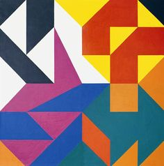 Zdeněk Sýkora (Czech, Rozpad struktury [collapse of the structure], Acrylic on canvas, 120 × 120 cm. Geometric Shapes Design, Geometric Quilt, Abstract Geometric Art, Geometric Poster, Abstract Shapes, Op Art, Pattern Art, Textures Patterns, Design Art
