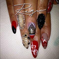 "@nailsbyregina's photo: ""Delta Sorority Nails!"""