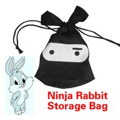 All Purpose Multifunction Travel Lunch Ninja Rabbit Pouch Laundry Storage Bag #Affiliate