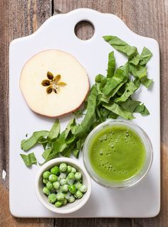 Apple + Spinach + Pea Puree — Baby FoodE | #organicbabyfood recipes to inspire adventurous eating. This green puree will soon be your little ones new must have puree. Besides  being sweet, smooth and scrumptious it is filled with not 1 but 2 green  veggies that provide a big heaping dose of protein, calcium, vitamin A and  C, fiber and iron and served with a side of #yumminess. Nom recipe by @babyfoode blog #adventurouseatingfortoddlers
