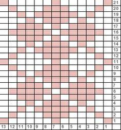 Tricksy Knitter Charts: Mini Pink Argyle by Tapestry Crochet Patterns, Knitting Paterns, Knitting Charts, Weaving Patterns, Mosaic Patterns, Knitting Stitches, Stitch Patterns, Cute Cross Stitch, Cross Stitch Designs