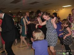 Wedding dancing at Knights of Columbus in downtown Cedar Rapids, IA