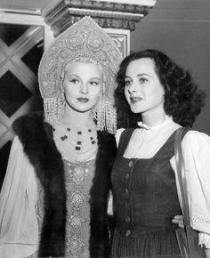 Ilona Massey and Hedy Lamarr