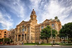 Tarrant County Courthouse in Fort Worth TX. To view or purchase my prints, visit joan-carroll.artistwebsites.com THANKS!