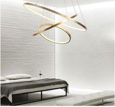 Indoor Modern Circular Ring Chandelier – Warmly Source by guapamila Ring Chandelier, Modern Chandelier, Ceiling Chandelier, Pendant Lamp, Led Ceiling Lights, Hanging Lights, Luxury Lighting, Modern Lighting, Lighting Design