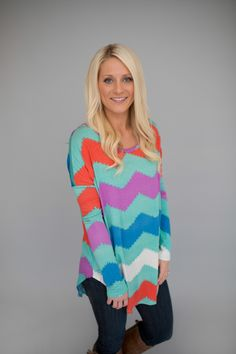 Magnolia Boutique Indianapolis - Long Sleeve Chevron Tunic- Cora/Mint, $36.00 (http://www.indiefashionboutique.com/long-sleeve-chevron-tunic-cora-mint/)