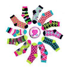 Spin-o-rama Gift Set One dozen Mixed Up Socks!  #Funkysocks #littlemissmatched