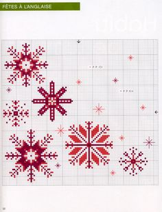 A chart for making stitched snowflakes - Gallery.ru / Фото