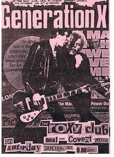 Generation X at the Roxy Club, London , UK 1977 | Flickr - Photo Sharing!