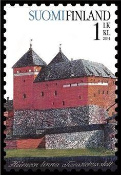 Häme Castle on Finnish stamp Helsinki, Castle Pictures, Postage Stamp Art, World 2020, Interesting Buildings, Medieval Castle, Fauna, Stamp Collecting, Mail Art