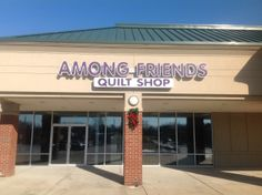 Among Friends Quilt Shop Channel Letters Backlit Signage, Channel Letter Signs, Sign Company, Business Signs, Quilting, Neon Signs, Lettering, Friends, Shop