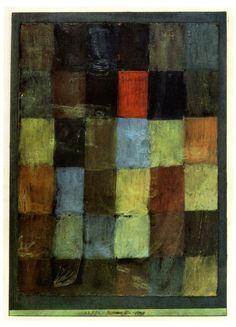 hipinuff:  Paul Klee(Swiss:1879–1940), Harmony in Blue, 1923. Oil on black priming on paper, 37.3 × 26.4cm