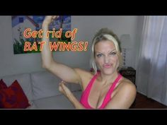 BAT WINGS, get rid of flabby triceps, loose skin, best arm workout for women! - YouTube