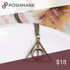 Bronze Harry Potter Deathly Hallows Necklace Brand New Also Abailable in Gold and Silver #N081 Jewelry Necklaces