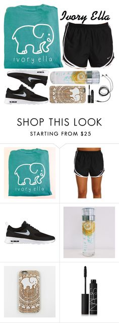 """Workout with Ivory Ella"" by ivory-ella ❤ liked on Polyvore featuring NIKE and NARS Cosmetics"