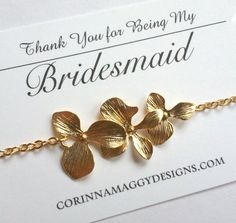 Triple orchid Bracelet, Bridesmaid gift, Maid of honor gift, Bridesmaid Jewelry, Wedding Jewelry, Accessories, Engagement