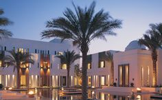 The garden at The Chedi, luxury hotel in Muscat, Oman