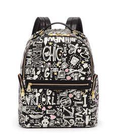 0000302238 Henri 3, Pretty Punk, Designer Luggage, Graffiti Prints, Travel Backpack, Luxury Travel, Leather Backpack, Henri Bendel, Backpacks