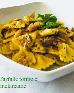 Un primo veloce e gustoso!http://lemporio21.blogspot.it/2014/10/farfalle-tonno-e-melanzane-e-ode-ai.html