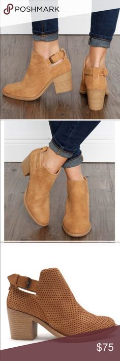 Suede cut out bootie So cute and comfy but unfortunately too big for me :( Shoes Ankle Boots & Booties