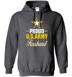 Proud U.S. Army Husband Gildan Heavy Blend Hoodie