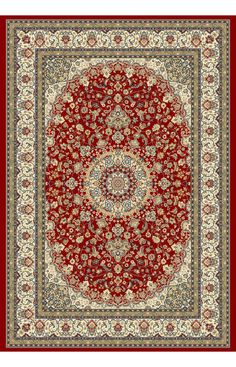 $5 Off when you share! Dynamic Rugs Ancient Garden 57119 Red Rug | Traditional Rugs #RugsUSA