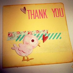 Washi Tape Thank You Card by Amy Wing