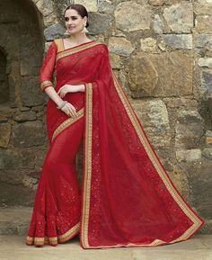 Buy Splendid Maroon Fashion Saree online at  https://www.a1designerwear.com/splendid-maroon-fashion-sarees  Price: $72.07 USD