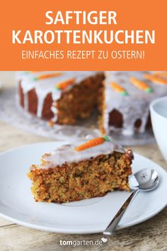Delicious Easter recipe - Süße Naschereien (Rezepte) - Are you looking for a delicious and simple Easter cake recipe? Then this juicy carrot cake is just t - Easy Cake Recipes, Baby Food Recipes, Whole Food Recipes, Dessert Recipes, Lemon Desserts, Easy Desserts, Easter Cake Easy, Unique Cakes, Food Cakes