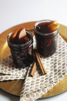 This Autumn Bourbon Sangriarecipe calls for a splash of bourbon. Serve at your next cocktail hour.