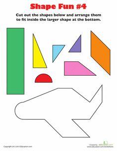 Worksheets: Shape Fun #4
