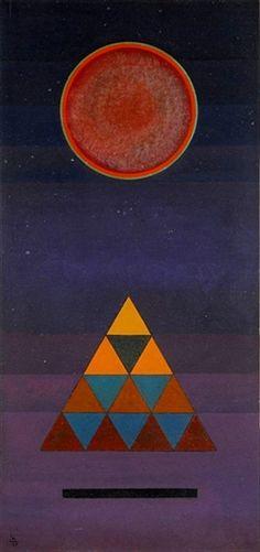 Wassily Kandinsky - Schluss (Conclusion) - 1926 - via Sotheby's Wassily Kandinsky, Bauhaus, Abstract Words, Abstract Art, Abstract Landscape, Augustin Lesage, Inspiration Art, Art Abstrait, Art Moderne