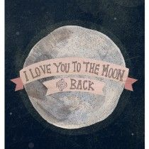 I love you to the moon by Yellow Button Studio
